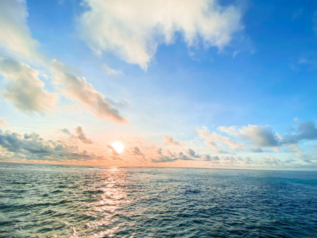 The first sun rise in Republic of Palau